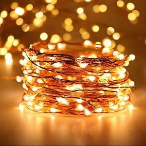 200 Copper fairy string lights